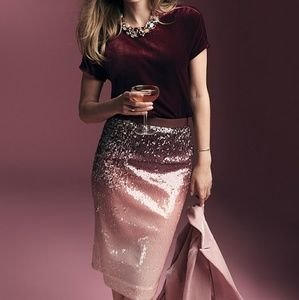 a1c282057d Pure Collection Skirts | Pure Ombre Sequin Pencil Skirt Size 6 ...